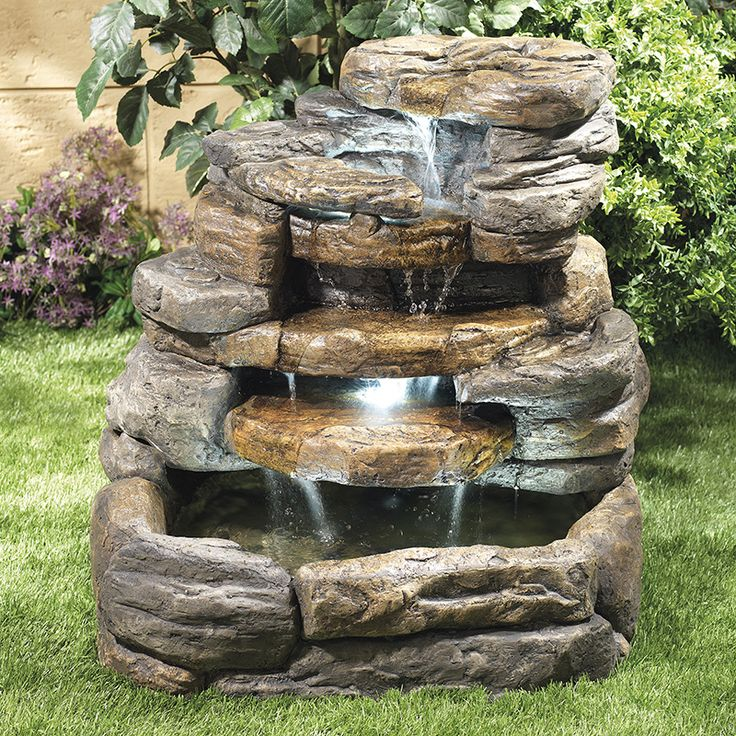 17 mejores ideas sobre fuente de piedra en pinterest for Construir una fuente de jardin