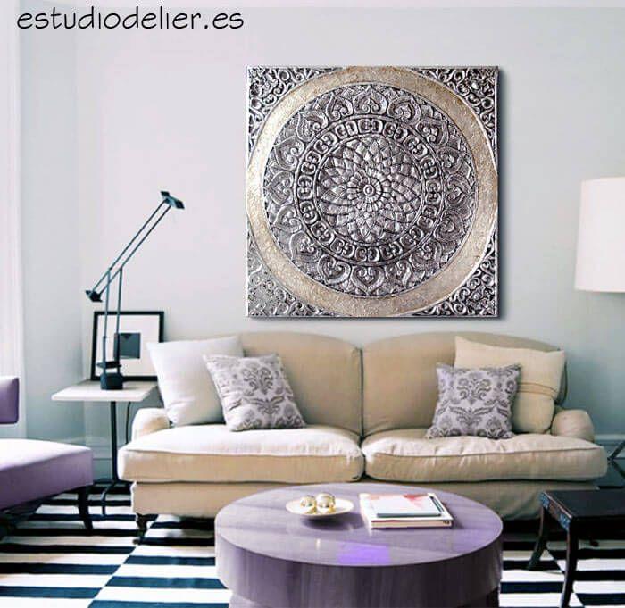 ESTUDIO DELIER   Cuadro mandala roseton 100x100 zen mas info en tienda online cuadros mandalas delier