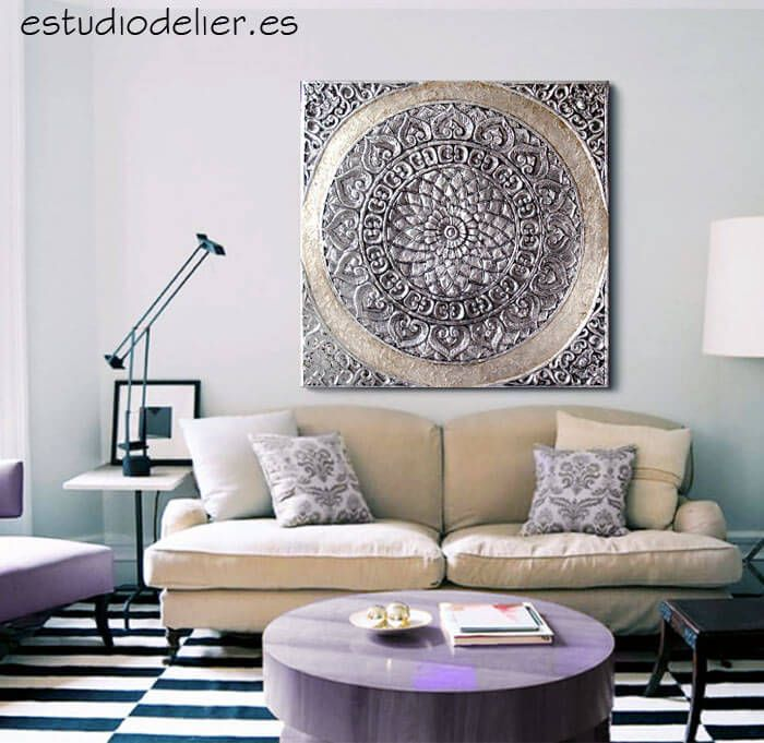 ESTUDIO DELIER | Cuadro mandala roseton 100x100 zen mas info en tienda online cuadros mandalas delier