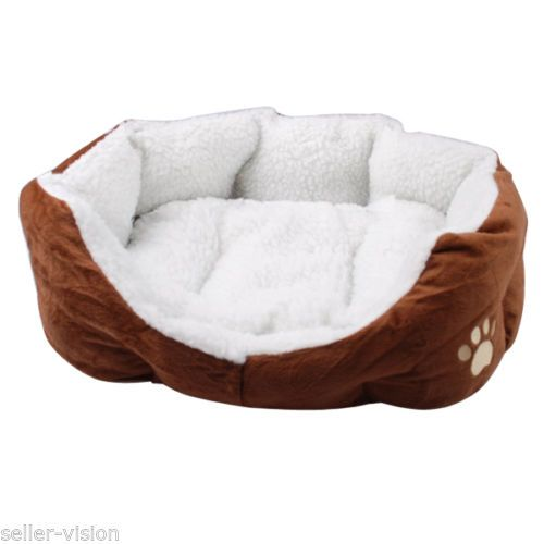 Small-Soft-Indoor-Pets-Dog-Cat-Puppy-Bed-Warm-Sofa-House-Mat-Nest-Cushion-Fleece