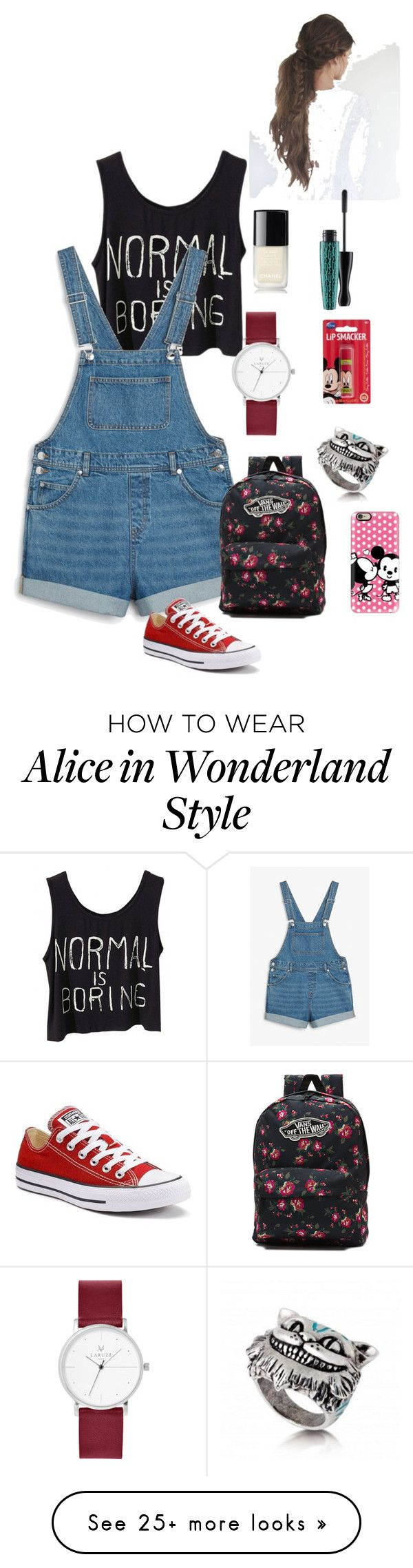 """Disney"" by anaelle7 on Polyvore featuring Monki, Casetify, Vans, Converse, Disney, Chanel and MAC Cosmetics"