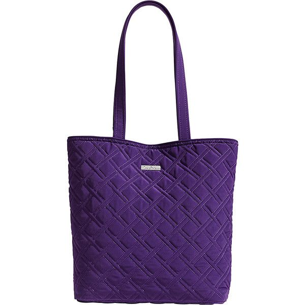 Vera Bradley Tote - Solids - Canyon Sunset - Totes ($68) ❤ liked on Polyvore featuring bags, handbags, tote bags, red, red tote handbag, purple tote bags, purple purse, vera bradley handbags and red tote bag