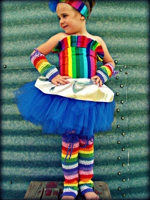 Rainbow leg and arm warmers: Tutu Costumes, Dreams Outfits, Halloween Costumes, Rainbows Bright, Kids Ideas, Rainbows Brite, Rainbows Costumes, Photo, Costumes Ideas