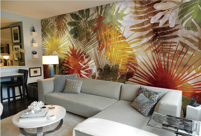 Cheap Wallpapers on Sale at Bargain Price, Buy Quality wallpaper life, wallpaper wall art, art gouache from China wallpaper life Suppliers at Aliexpress.com:1,Material:EPP 2,Surface Treatment:Relief 3,is_customized:Yes 4,Pattern:Palm tree leaf art murals 5,Usage:Commerce,Entertainment,Household