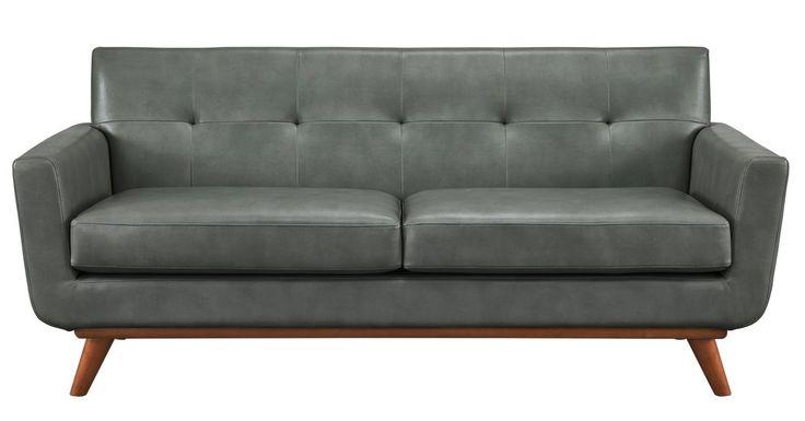 TOV Furniture Modern Lyon Smoke Grey Loveseat TOV-S31L