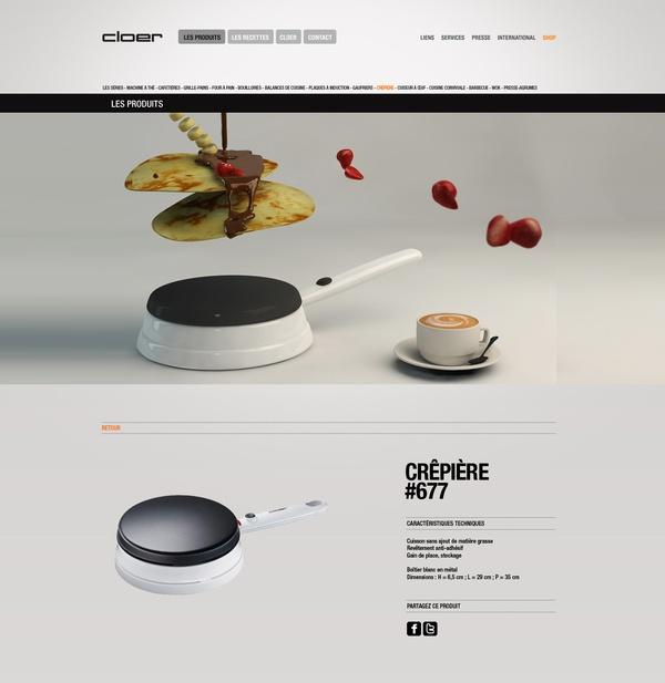 Cloer website by Florian Lecoq