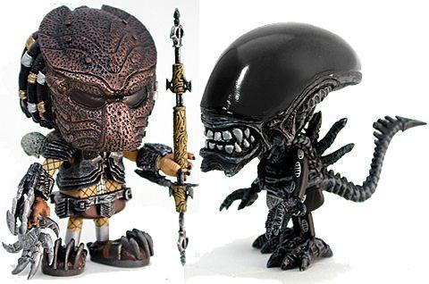 chibi alien vs predator    via blogdebrinquedo.com.br