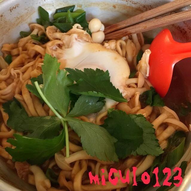 きのこたっぷり( ´ ▽ ` )ノ - 61件のもぐもぐ - 菌活味噌煮込みうどん by miculo123
