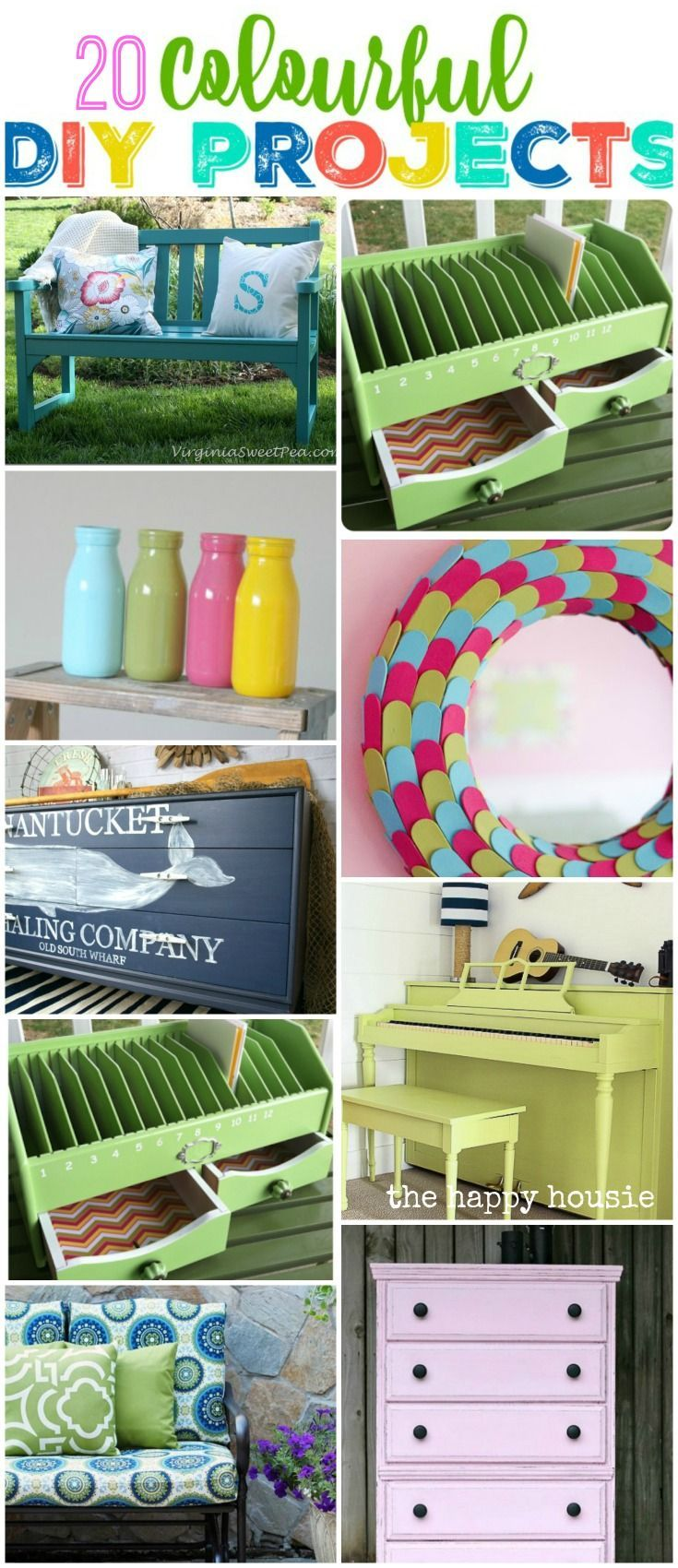 20 fun and colourful DIY Projects to add some life and energy to your space