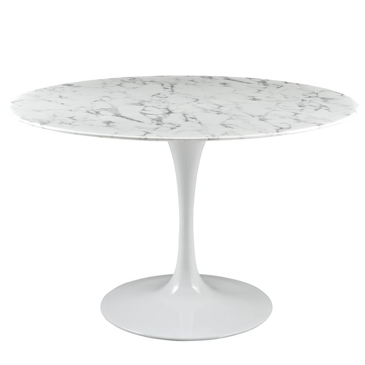 "Lippa 47"" Dining Table EEI-1131-WHI by LexMod"