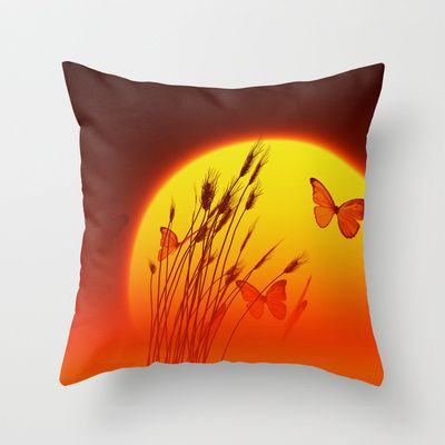 Summertime -  Throw Pillow Cover made from 100% spun polyester poplin fabric, a stylish statement that will liven up any room.