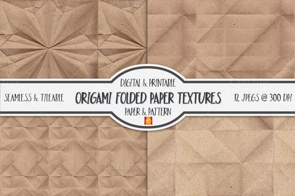 Seamless Folded Paper Texture by JSquarePresents on Creative Market