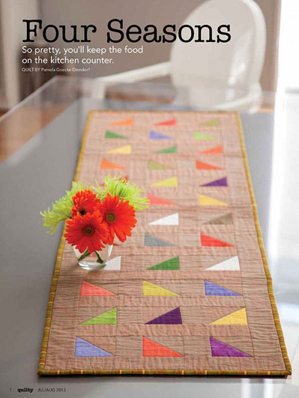 Four Seasons Table Runner Pattern Download - Table Top - Patterns