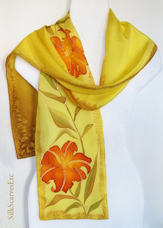 63 best Floral Silk Scarves images on Pinterest   Floral ...