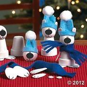 clay pot polar bear crafts - Google Search