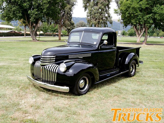 1946 Chevy Pickup Truck - Stovebolt Black. Custom Classic Trucks Magazine