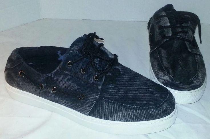 NEW MENS BUCKLE BLACK MIDNIGHT RAMBLER BLACK BOAT SHOES SIZE US 11 UK 10 EUR 44 #BUCKLEBLACK #BoatShoes