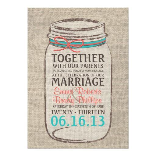 Wedding Invitations Mason Jar: 318 Best Images About Mason Jar Wedding Invitations On