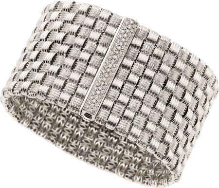 Diamond, White Gold Bracelet by Roberto Coin one of my favorites.