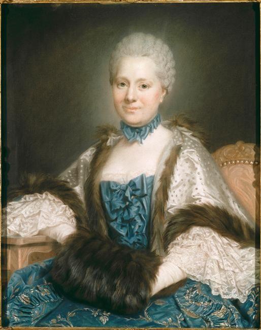Portrait de Mme de Rozeville, née Collignon de Fréneuse by Maurice Quentin Delatour