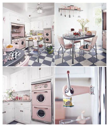 All Pink Kitchen 116 best kitchy kitchens images on pinterest | retro kitchens