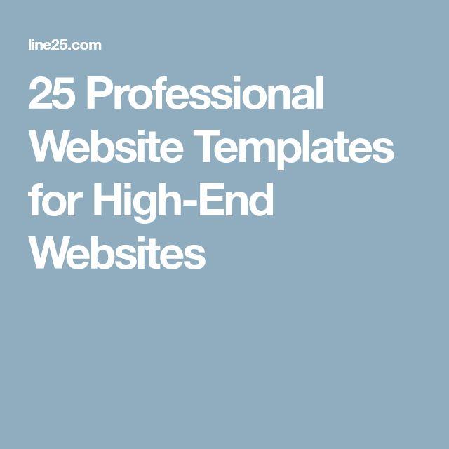 25 Professional Website Templates for High-End Websites