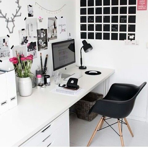 Love black and white with a small pop of colour