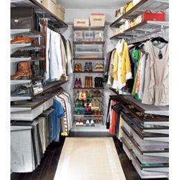 The Container Store > Walnut & Platinum elfa décor Walk-In Master Closet