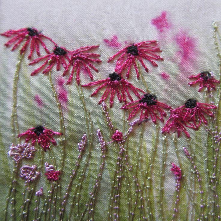 Machine embroidery www.onthewildside.co.uk
