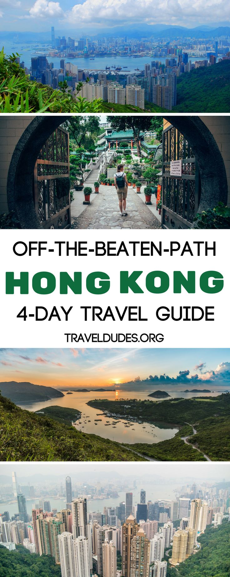 The ultimate off-the-beaten-path guide to exploring Hong Kong over four days.  Get away from the tourist crowds and experience the real Hong Kong, which is full of secret beaches, hidden islands, small villages, and delicious local food. Best offbeat things to do in Hong Kong.  Travel Dudes Social Travel Community #HongKong