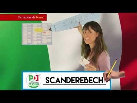 Scrivi Scanderebech accanto logo PD su tutta Torino