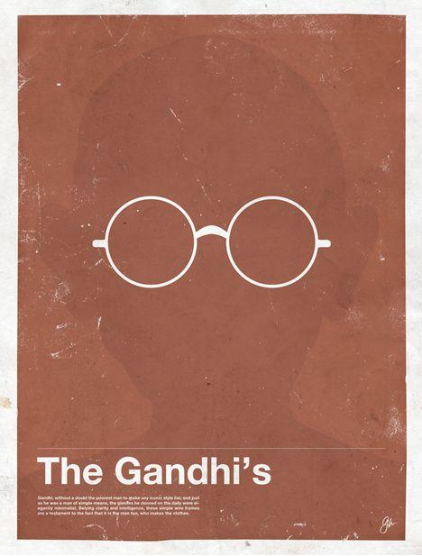 Miss Spectacles: Framework. Eyewear Made Famous  The Gandhi's   Mahatma Gandhi
