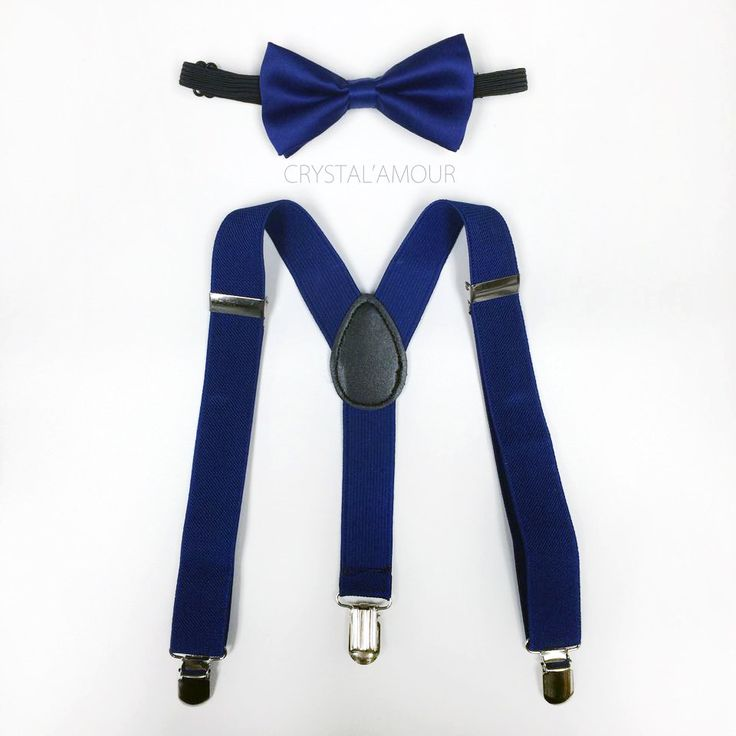toddler's navy blue bow tie and suspenders dark by crystalAmour, $19.95