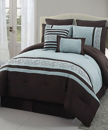 Take a look at this Blue Montero Comforter Set by Victoria Classics on #zulily today!