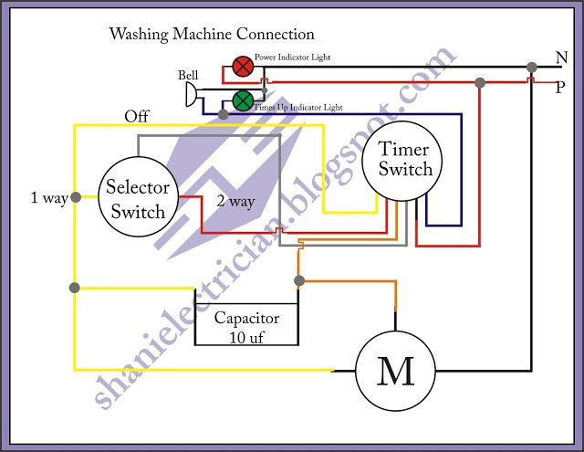 Wiring Diagram Of Washing Machine Timer | Washing machine ...