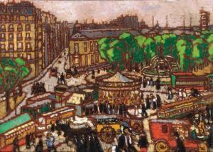 Busy City Scene - József Rippl-Rónai - The Athenaeum