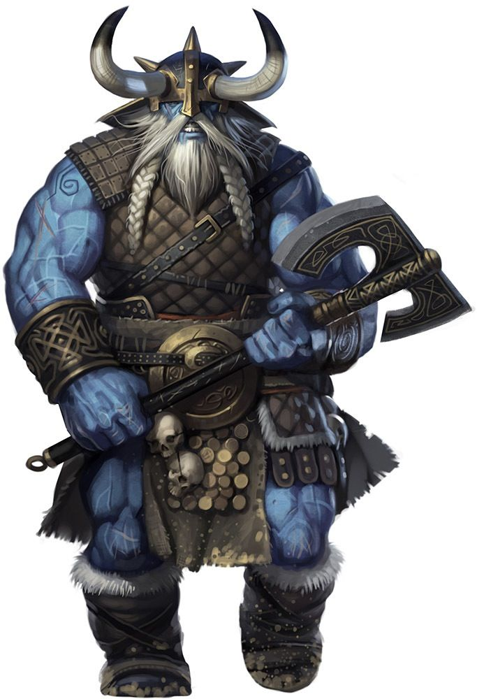 Frost giant, possibly a Nart or Thurses. Probably working for Stalin!