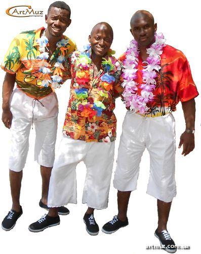 гавайский костюм барабанщиков