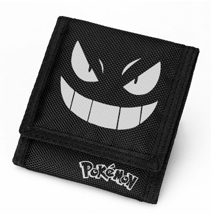Free Shipping New Arrival High Quality Japanese Anime Pokemon Wallets Gengar Money Clip Boy Girl Wallet
