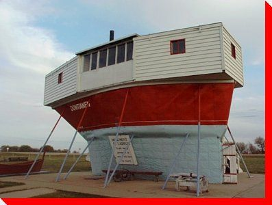 Sukanen Ship - Moose Jaw, Saskatchewan. We spent a lot of time at this museum as youngsters.