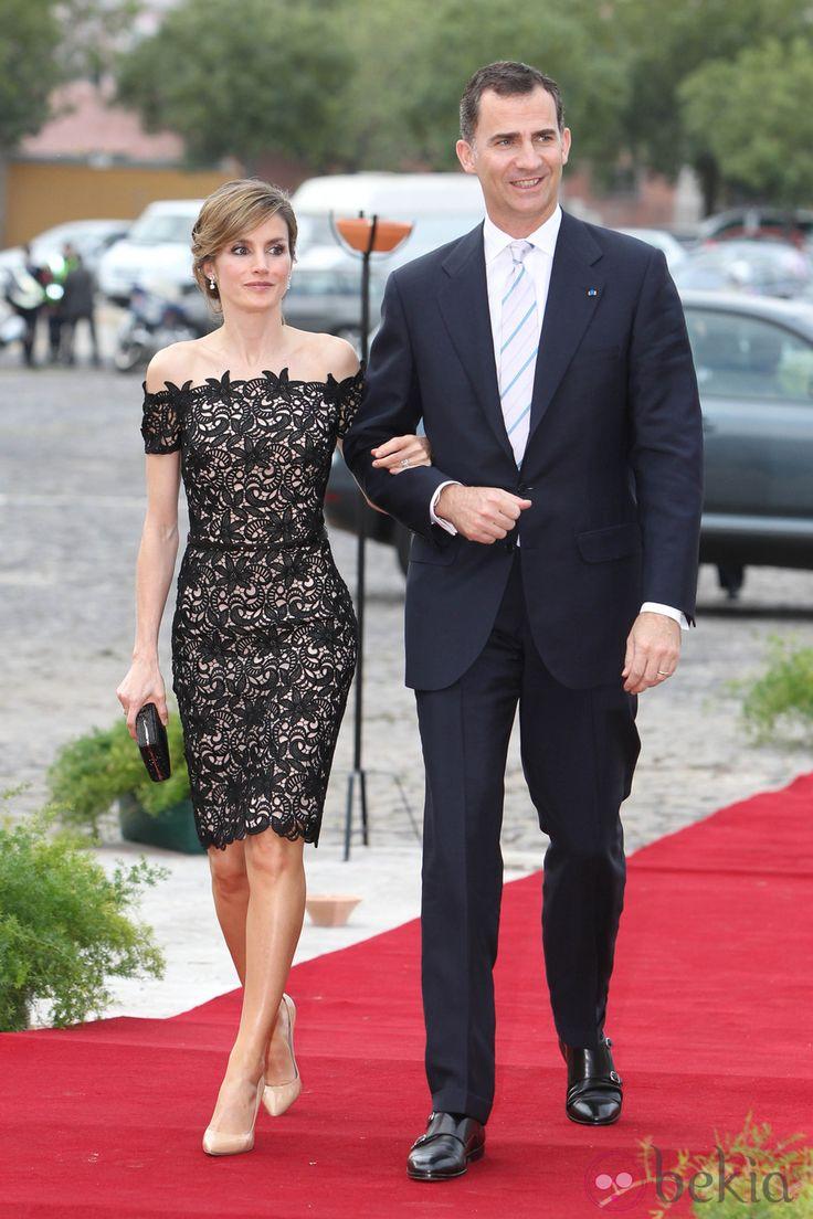 Los Príncipes de Asturias en la cena de gala ofrecida en su honor en Portugal