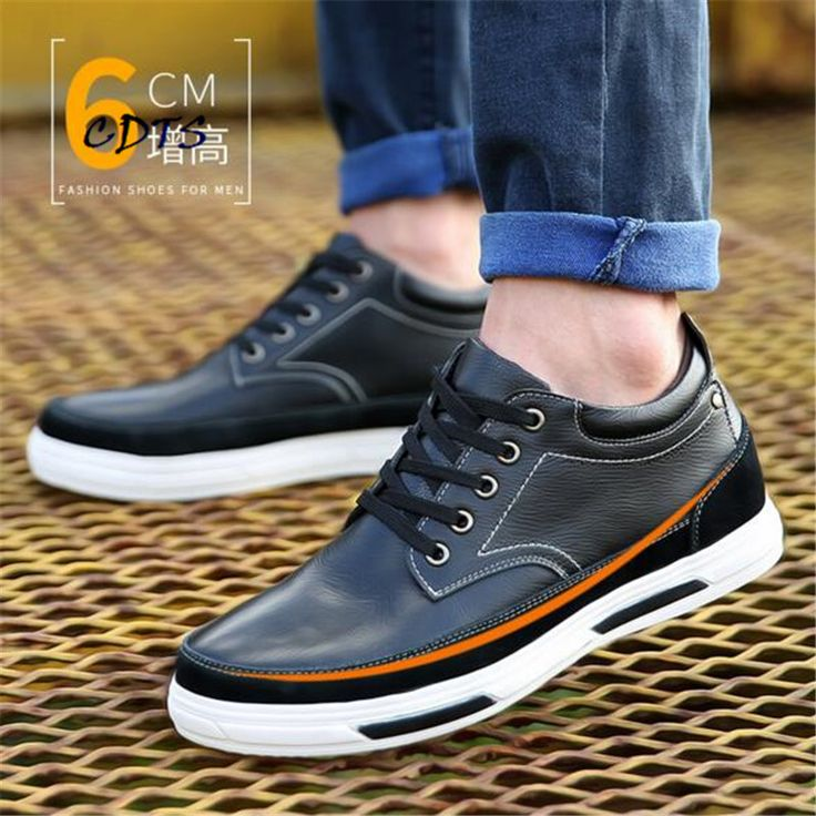 >> Click to Buy << Male shoes high quality Split Leather Casual Fashion Height Increasin Round Toe Dress Party Soft-bottom zapatos hombre Size38-44 #Affiliate
