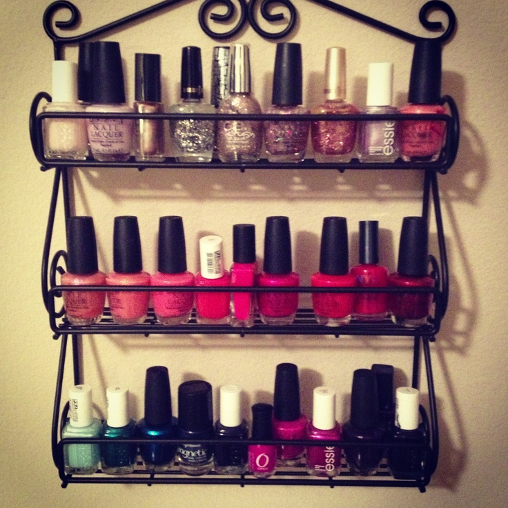 Nail Polish Holder Diy Target Spice Rack Fun Things