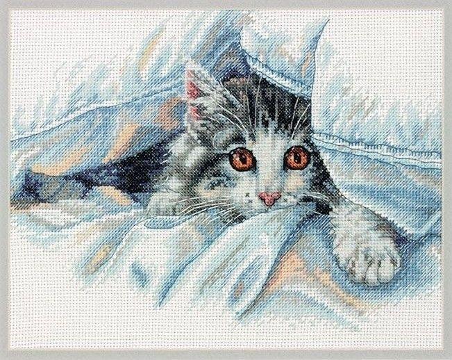 Набор для вышивания Dimensions 35341-70 Кошачий комфорт