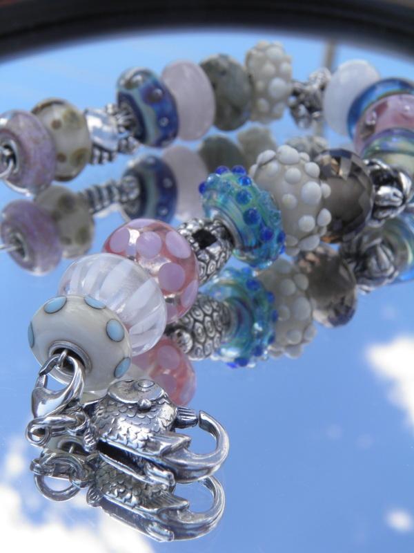 Kelly's beautiful Beach bracelet...Trollbeads -   Swiss Flower and Gift Cottage