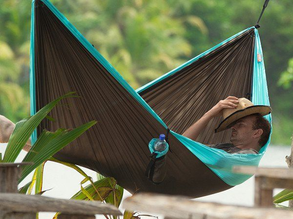 This travel hanging hammock chair, discovered by The Grommet, is a beautiful blend of tradition and innovation that will liven up any porch, home, or yard.