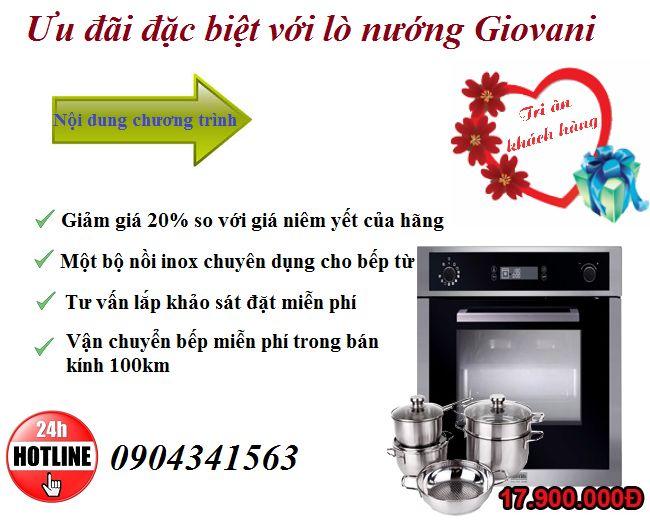 Tri ân khách hàng giảm giá lên tới 20% khi mua lò nướng Giovani: