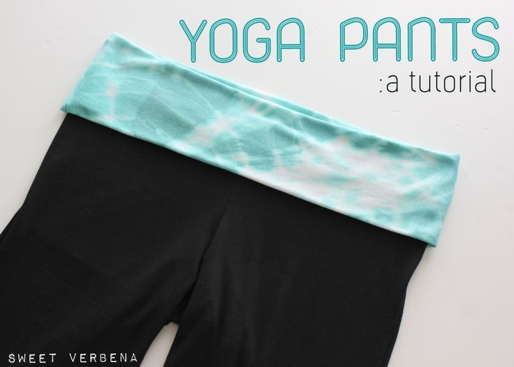DIY yoga pants - can use the same general principle to make a fold-over-waistband skirt