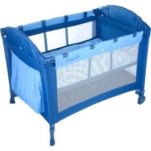 Berço Dobrável Portátil Burigotto Camping Azul.    Acompanha bolsa para transporte.    Fácil de montar e desmontar, excelente para viagen.