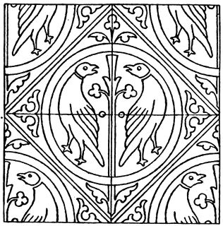 Medieval tile pattern